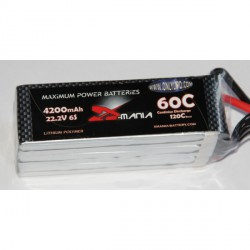 X-mania  22.2V 4200mAh 60C (no plug)