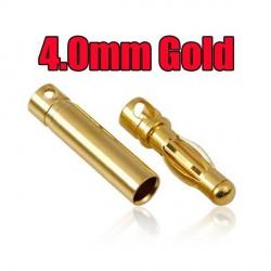 4 mm Gold Bullet Connector