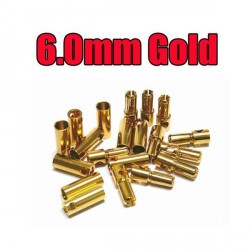6 mm Gold Bullet Connector