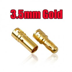 3.5 mm Gold Bullet Connector