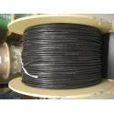 Câble silicone 8AWG noir par mètre